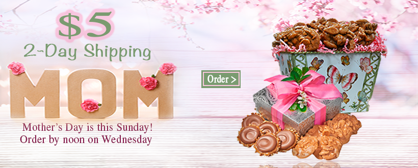 Use $5 Express Shipping for Mother's Day Delivery