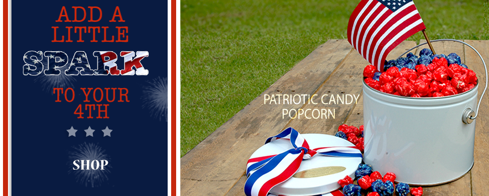 Add a Little Spark to july 4th with Patriotic Candy Popcorn