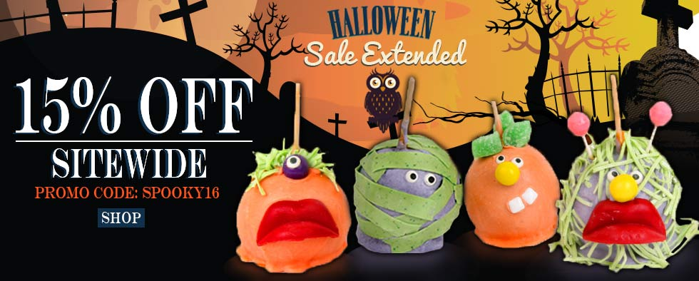 Sale Extended! Save 15% on our Halloween Sale!