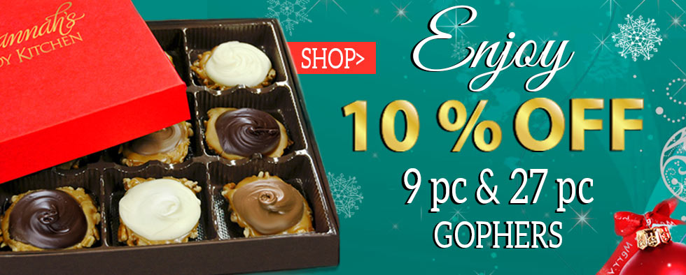 10% off our chocolate gophers