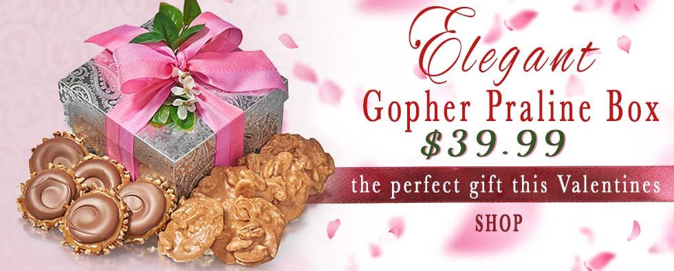 Valentine's Elegant Gopher & Praline Box