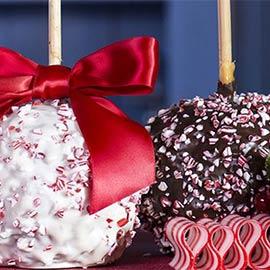 Christmas Peppermint Caramel Apples 2pk